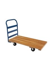 "ALL WOOD DECK TRUCK- 5"" Rubber on Steel"