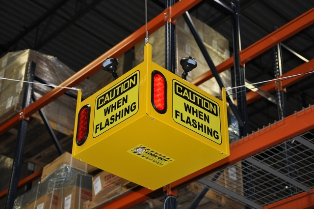 Look Out 3 Audible - Ceiling Mount - Collision Awareness Look Out 3 A, Collision Awareness, Collision Safety, Safety Products, Forklift Safety, Warehouse Safety, Collision Awareness, Dock Safety, Dock Awareness, Hall Collision, Office Collision