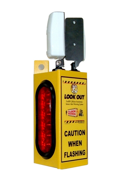 Look Out 1 - Rack Mount - Collision Awareness Collision Awareness, Collision Safety, Safety Products, Forklift Safety, Warehouse Safety, Collision Awareness, Dock Safety, Dock Awareness, Hall Collision, Office Collision