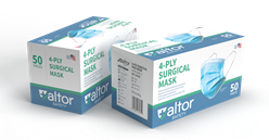 Surgical Face Masks 4-Ply,  Case of 2000 ASTM Level 3 4ply, Surgical, Face, Masks, Case of 2000, ASTM Level 3