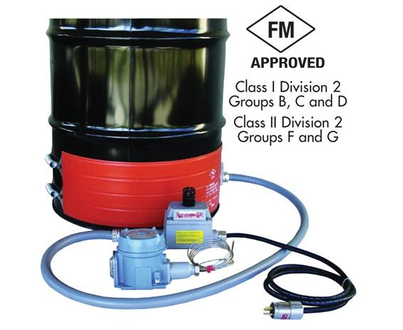 "HAZARDOUS-AREA DRUM HEATERS- For T3 Environments, Fits Drum Size 30, Fits Drum Diameter  18.6"", 120VAC, 1000 Watts"