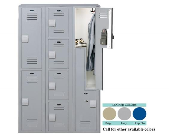 LENOX® PLASTIC LOCKERS- Beige, Single Tier, 12 x 12 x 60""