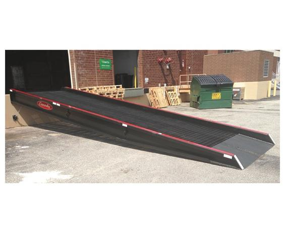 "STATIONARY RAMPS- 16000 Cap. (lbs), 30 x 84"" Size LxW, 38 - 60"" Range, Black Paint Color"