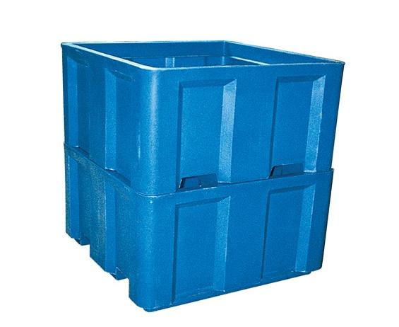 POLY SKID BOXES- Single Wall Construction, 15 Cap. Cu. Ft., 48 x 48 x 17.5""