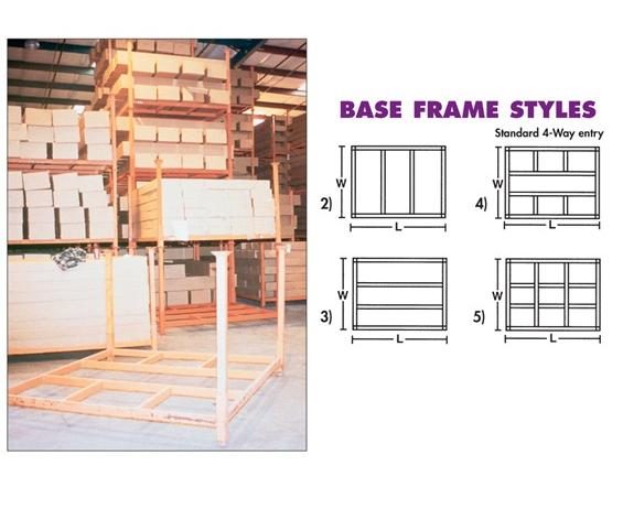 "PORTABLE STACKING RACKS- 2000 Capacity (lbs.), 36 x 60"" Size WxL (O.D.), 4 Base Frame Style"