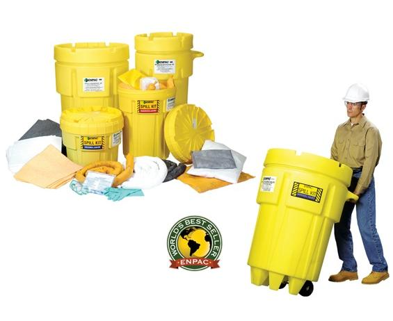 ENPAC SALVAGE DRUM SPILL KITS- 20 gal. Spill Kit/Universal, Absorbs up to 11 gals.