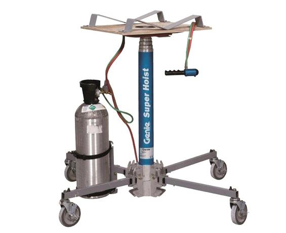 "THE GENIE® SUPER HOIST™- 300 Load Cap. (lbs), 12 5-1/2"" Lift Height, 3 5"" Stowed Height, 19 x 24"" Load Platform LxW"