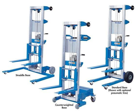 "THE GENIE® LIFT™- Standard Base Type, 500 Lift Cap. (lbs), 5 11"" Max Height Fork Up, 4 1-1/2"" Max Height Fork Down, 24-3/4"" Width, 34-3/4"" Length, 22-1/2 x 20-1/2"" Fork Size LxW"
