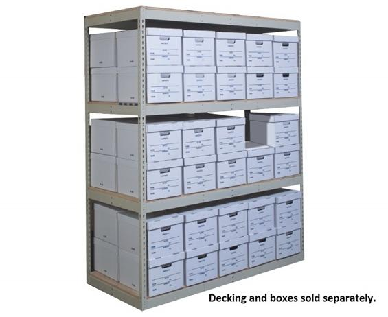 "RECORD STORAGE SHELVING- Adder Unit, 4 Shelves, 42 x 30 x 84"" Size WxDxH, 780 Cap. (lbs)"