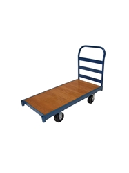 "STEEL FRAME WOOD DECK TRUCK-24 X 48"", 6"" Phenolic"