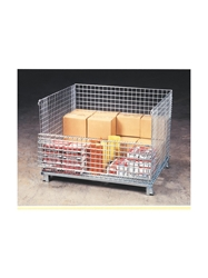 "WIRE MESH CONTAINERS- Junior Wire Basket without Casters, 20 x 32 x 22"", 1000 Cap. (lbs.)"