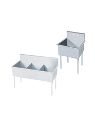 "STAINLESS STEEL SINKS- 21 x 24 x 41"", 1 Compartment"