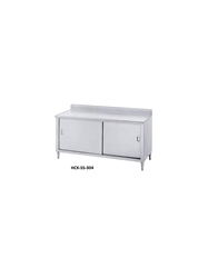 "ENCLOSED BASE WORKTABLES- With 5"" Backsplash, Sliding Doors, 30 x 48 x 35-1/2"""