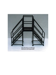 "FIXED CROSSOVERS - STAIR SECTIONS (SET OF 2) - 48° SLOPE- Expanded Metal, 27"" Overall Width, 28""Vertical Clearance"
