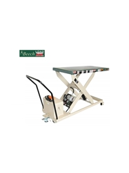 "PORTABLE SCISSOR LIFT TABLES- RP-24 Series 24"" Travel, 34"" Raised Height, 24 x 36"" Platform Size WxL, 750 Cap. (lbs)"