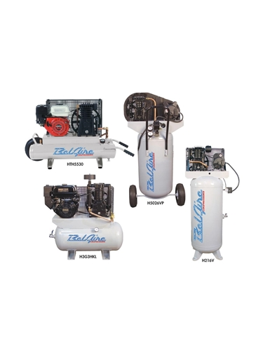 BELAIRE AIR COMPRESSORS- Two Stage Electric, 5 H.P., 15.33 CFM @ 100 PSI