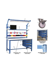 "5,000 LB. CAPACITY KENNEDY SERIES WORKBENCHES - WITH HEAVY FORMICAâ""¢ LAMINATE TOP- Frosty White Top Color, 24 x 60"" Size DxL"