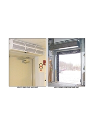 "BERNER AIR CURTAINS- Industrial Air - 120/1 Voltage, 5 x 12 Max Door Size, 69 x 18 x 15"" Unit Size WxDxH"