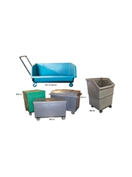 "CHIP CART & ROLLING CASES- 46 x 28 x 24"", 8 Cu. Ft. Cap., Gray"