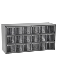 "STEEL STORAGE CABINETS-H17 Series Light-Duty<BR> Cabinet, Crystal Styrene, 18 x 6 x 9-1/2"", 18 Drawers"
