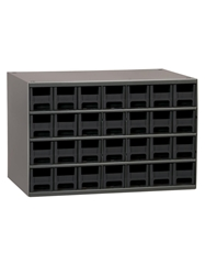 "STEEL STORAGE CABINETS-H19 Series Heavy-Duty<BR> Storage Cabinet, Black, 17 x 11 x 11"", 28 Drawers"