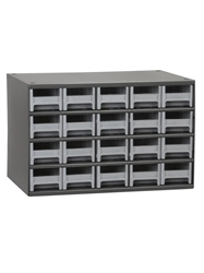 "STEEL STORAGE CABINETS-H19 Series Heavy-Duty<BR> Storage Cabinet, Gray, 17 x 11 x 11"", 20 Drawers"