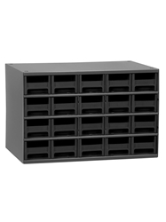 "STEEL STORAGE CABINETS-H19 Series Heavy-Duty<BR> Storage Cabinet, Black, 17 x 11 x 11"", 20 Drawers"