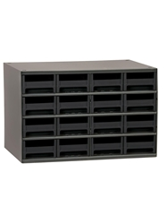 "STEEL STORAGE CABINETS-H19 Series Heavy-Duty<BR> Storage Cabinet, Black, 17 x 11 x 11"", 16 Drawers"