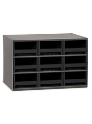 "STEEL STORAGE CABINETS-H19 Series Heavy-Duty<BR> Storage Cabinet, Black, 17 x 11 x 11"", 9 Drawers"
