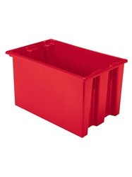"NEST AND STACK TOTES-Red, 23-1/2 x 15-1/2 x 12"", Cap. Cu. Ft. 1.7"
