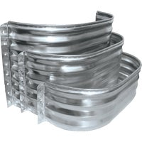 SS3712-24 SPC Square Galvanized Window Wells and Area Walls well window