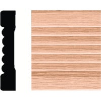 "9587 House of Fara Wood Fluted Casing 9587, Solid Wood 7/16"" x 2-1/4"" x 7 Fluted Casing"