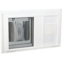 BH3219ST51LVENTS Interstate Model 5100 South Glass Pack Hopper Basement Window With Dryer Vent