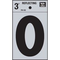 RV-50-0 Hy-Ko 3 In. Reflective Numbers adhesive number