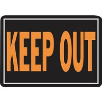 807 Hy-Ko Keep Out Sign 807, Hy-Ko Hy-Glo Aluminum Sign