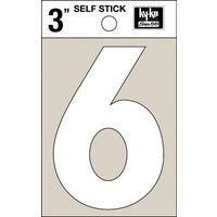 30506 Hy-Ko 3 In. White Self-Stick Numbers adhesive number