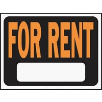 3005 Hy-Ko For Rent Sign 3005, Hy-Ko Hy-Glo Plastic Sign