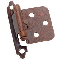 28777 Laurey Self-Closing Overlay Hinge With Zinc Screws hinge overlay
