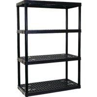 3618BK4 Contico 4-Tier Ventilated Plastic Shelving plastic shelving