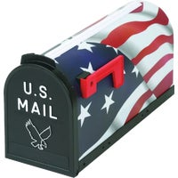 T-R 6530US Flambeau T2 American Flag Post Mount Mailbox T-R 6530US, U.S. Flag Mailbox