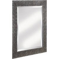 20-0505 Erias Home Designs Chromed Espresso Wall Mirror mirror wall