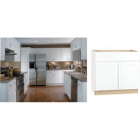 CBKSB36-SW Continental Cabinets Hamilton Double Door Sink/Cooktop Base Cabinet