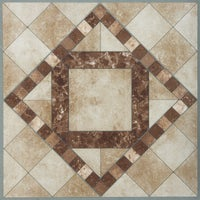 "KC90704 Home Impressions 12"" x 12"" Travertine Mosaic Vinyl Floor Tile floor home impressions tile"