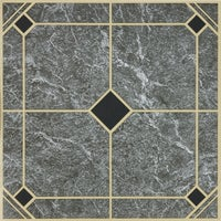 "KC90315 Home Impressions 12"" x 12"" Blue and Gold Vinyl Floor Tile floor home impressions tile"