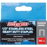 301756 Channellock No. 4 Narrow Crown Staple channellock no.