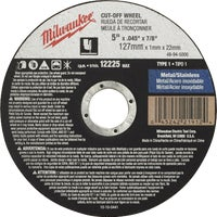 49-94-5000 Milwaukee Type 1 Cut-Off Wheel cut milwaukee off type wheel