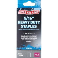 314730 Channellock No. 6 Heavy-Duty Wide Crown Staple channellock no.