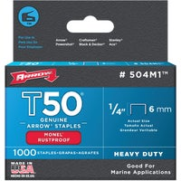 504M1 Arrow T50 Heavy-Duty Monel Staple 504M1, Arrow T50 Heavy-Duty Monel Staple