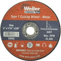 36537 Weiler Vortec Type 1 Abrasive Cut-Off Wheel cut off wheel