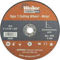 36540 Weiler Vortec Type 1 Abrasive Cut-Off Wheel cut off wheel
